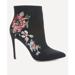 Bebe Delonix Embroidered Floral Booties